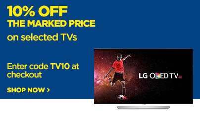 Save 10% off the marked price on selected TVs