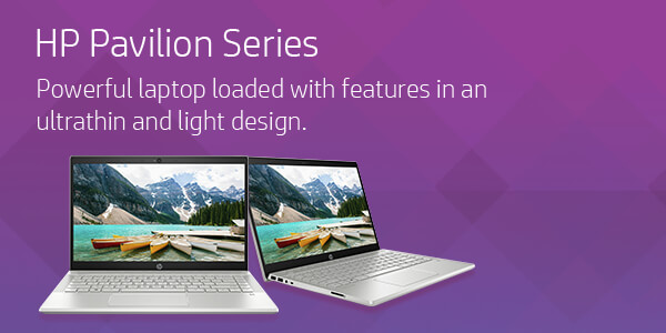 HP Pavilion Series - Powerful laptop loaded with features in an ultrathin and light design