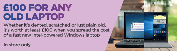 £ for any old laptop