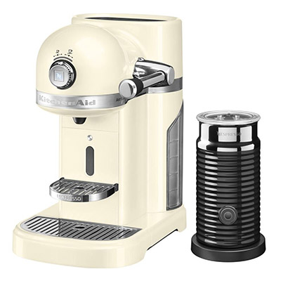 Artisan 5KES0504BAC Coffee Machine with Aeroccino 3 - Almond Cream