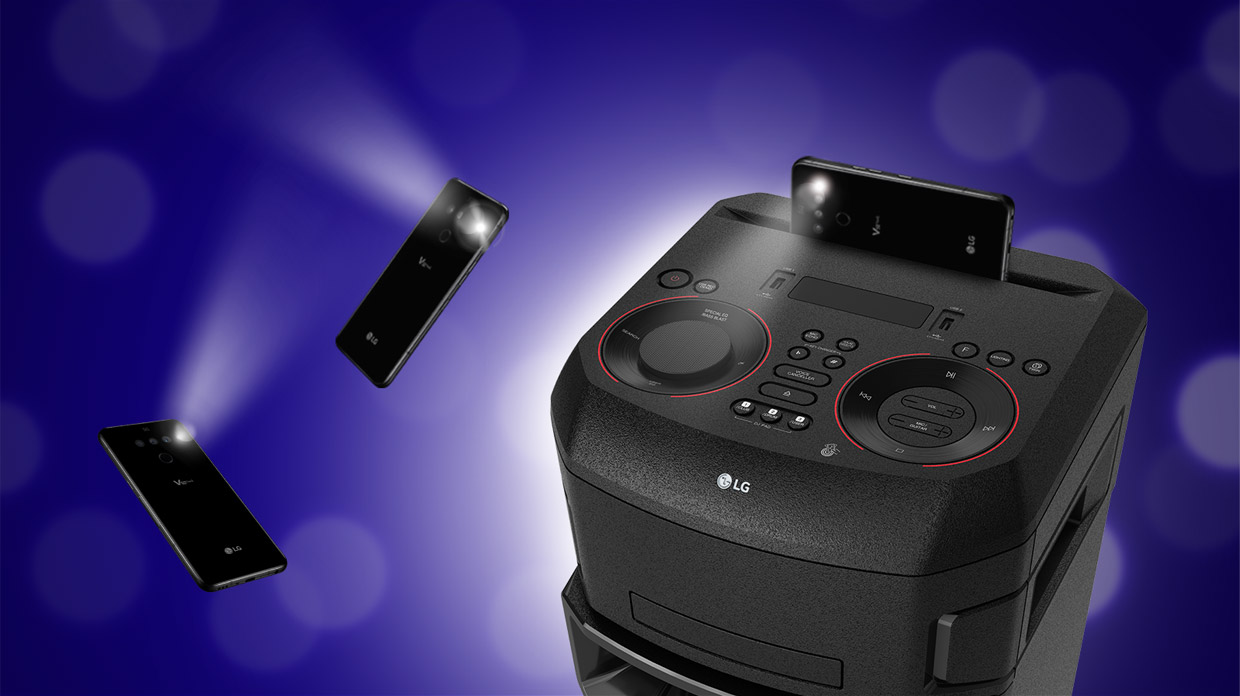 LG XBoom party strobe