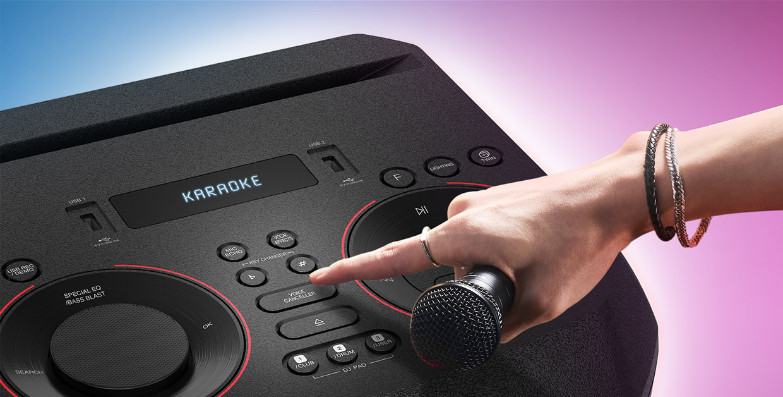 LG XBoom DJ Karaoke mode