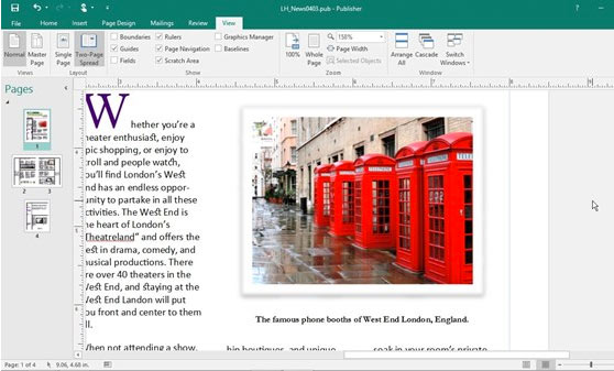Microsoft Publisher Screenshot