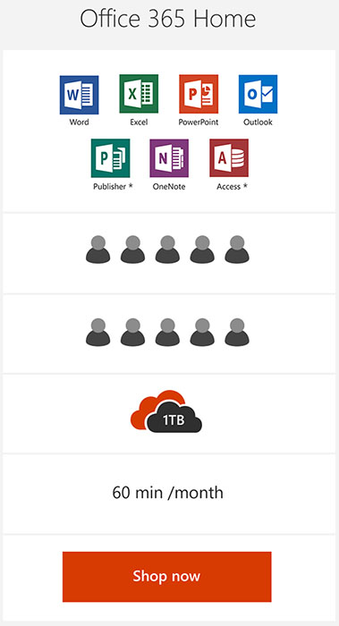 microsoft office 365 home. below you can compare different versions of office 365 also purchase standalone copies microsoft for windows or macos home