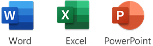 Word, Excel and PowerPoint