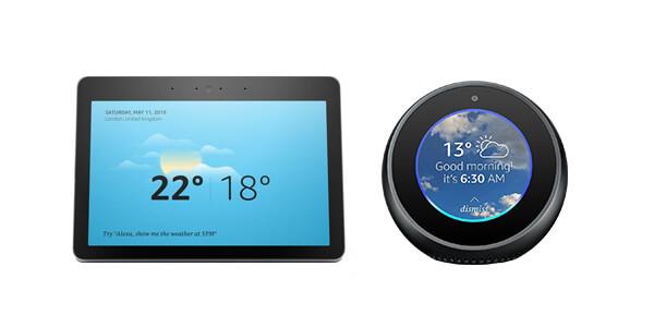 Amazon Echo Show and Amazon Echo Spot