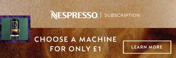 Nespresso subscription service for £1