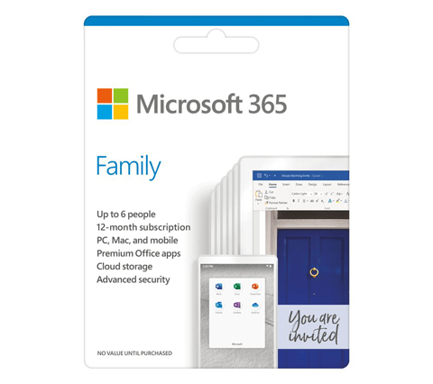 Microsoft 365 Family - 1 year for 6 users