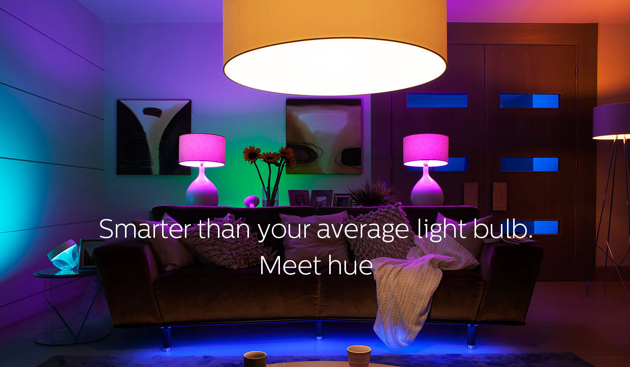 Smarter than your average light bulb. Meet hue