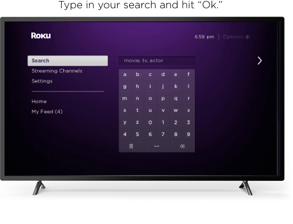 search with roku remote