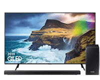 Samsung Q70 QLED TV and Q-series Q70R Soundbar