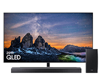 Samsung Q80 QLED TV and Q-series Q80R Soundbar
