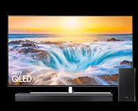 Samsung Q85 QLED TV and Q-series Q80R Soundbar