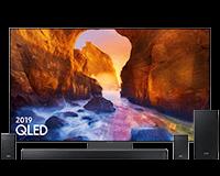 Samsung Q90 QLED TV and Q-series Q90R Soundbar