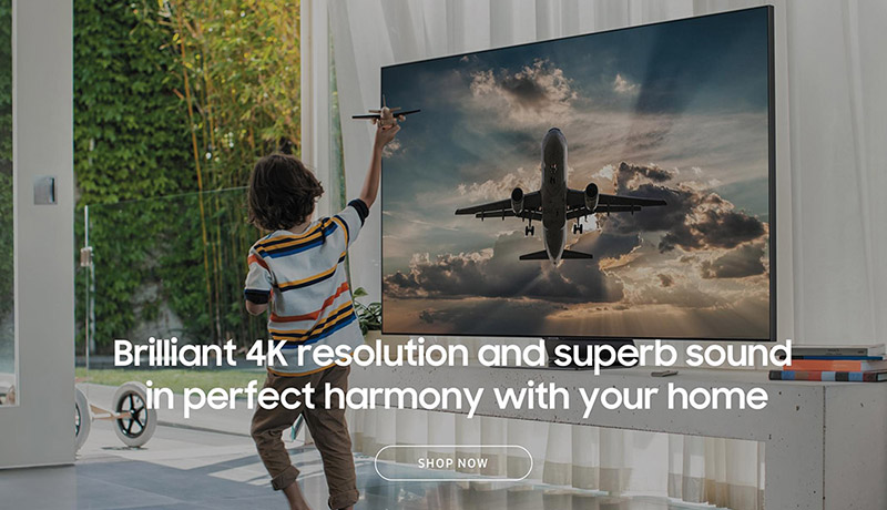 Brilliant 4K resolution and superb sound in perfect harmony with your home