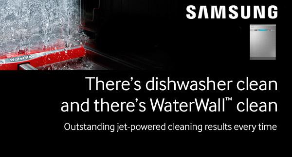 Samsung Waterwall dishwashers