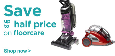 Save up to half price on floorcare