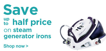 Save up to half price on steam generator irons