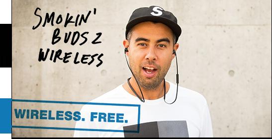 Skullcandy Smokin Buds 2 Wireless Headphones Eric Koston