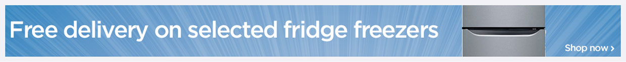 Free delivery on selectede fridge freezers