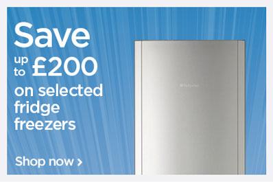 Save up to £200 on fridge freezers