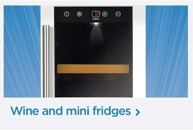 Wine and mini fridges