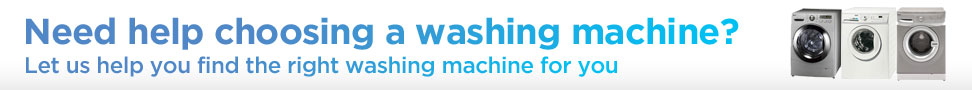 let us help you find the right washing machine for you