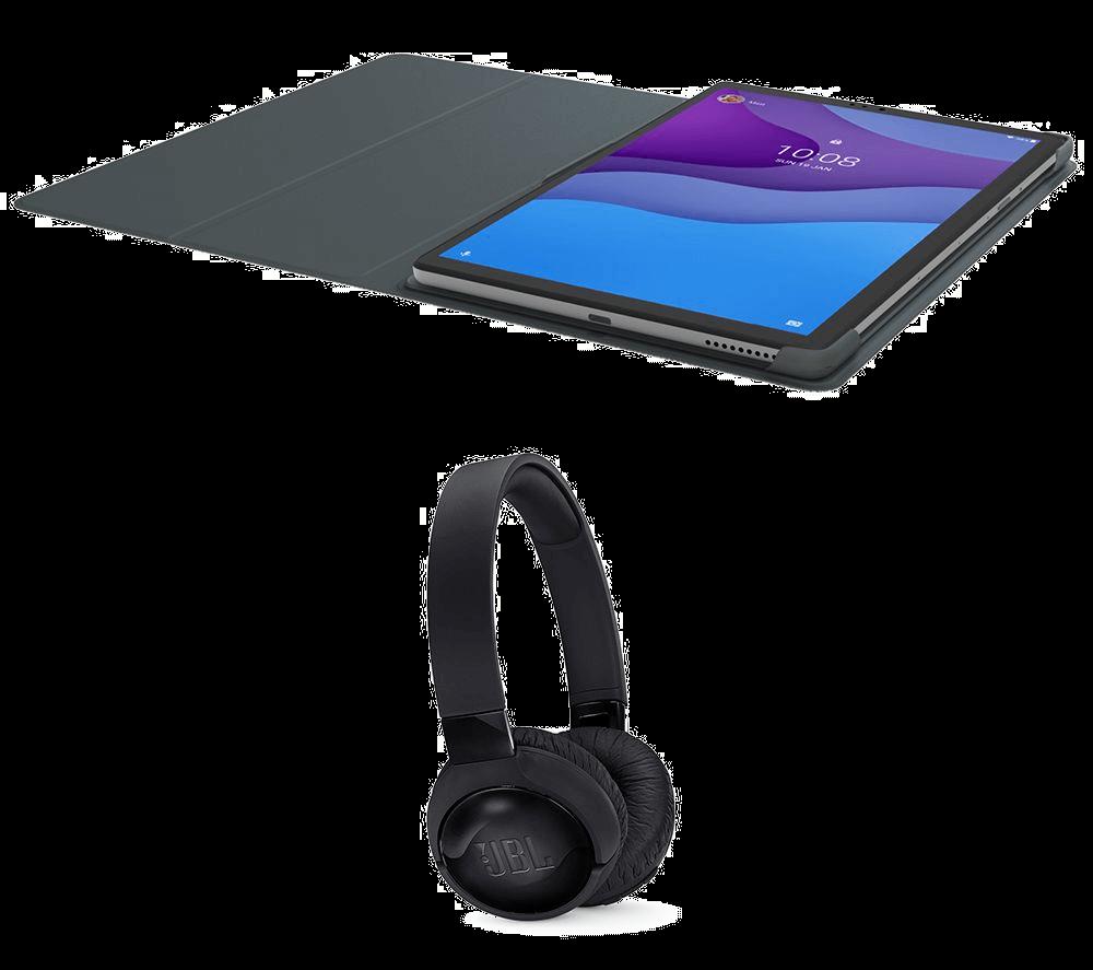 Lenovo Tablet and Headphones