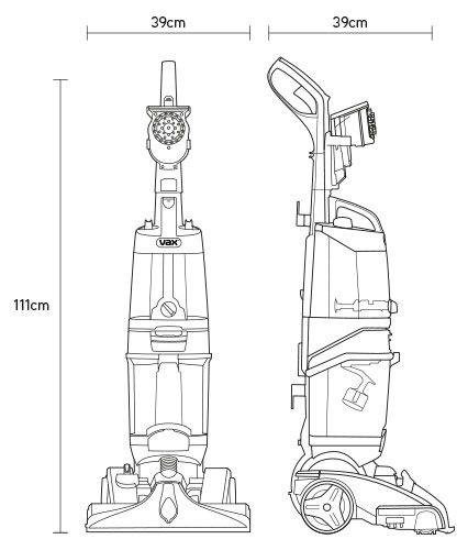 vax carpet washer technical drawing