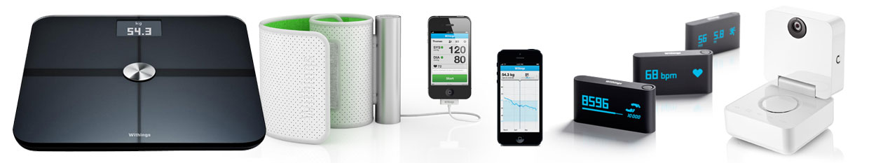 Withings products - Scales, blood preasure, pulse monitor, baby monitor