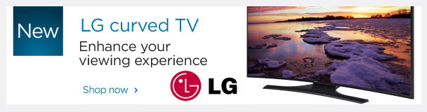 New LG curved TV