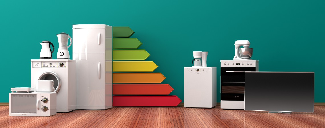 Electronic appliances and the color coded energy rating
