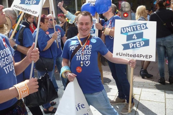 Tom Hall campaigning for LGBTQIA+ rights