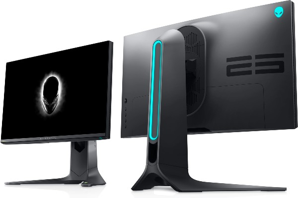 Front and back view of the Alienware 360Hz Gaming Monitor