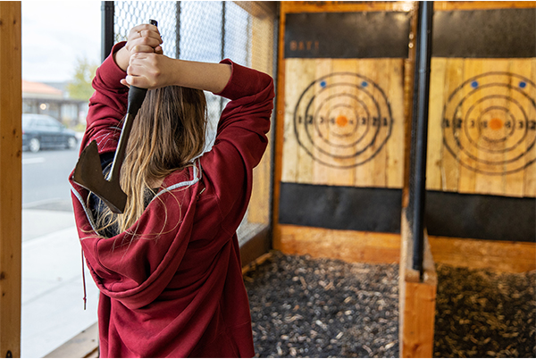 Axe throwing for Father's Day