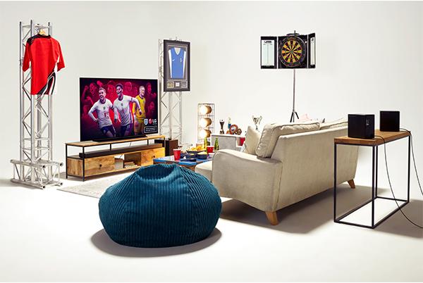 LG OLED TV and soundbar