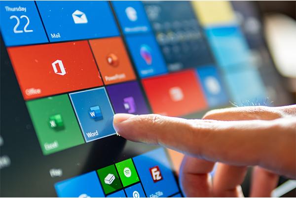 Microsoft Windows 10 touchscreen