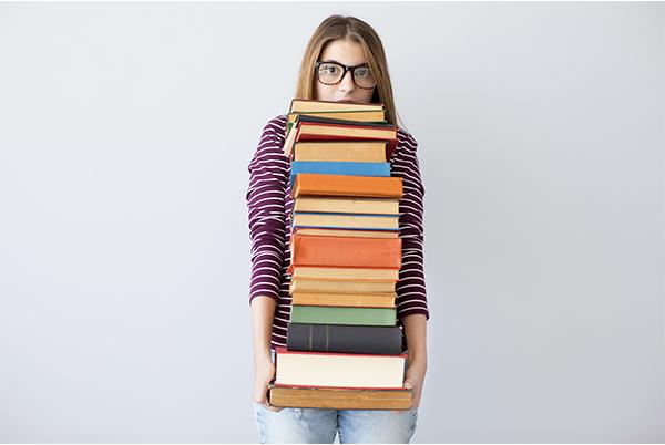 Too many books for university