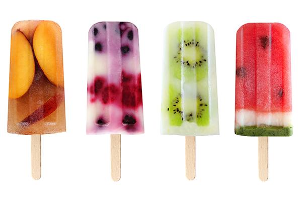 Real fruit pops