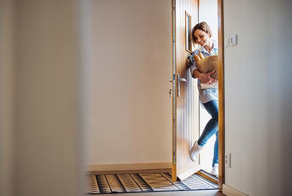 smart home front door