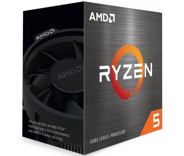 An AMD Ryzen 5 5600X Processor in its box
