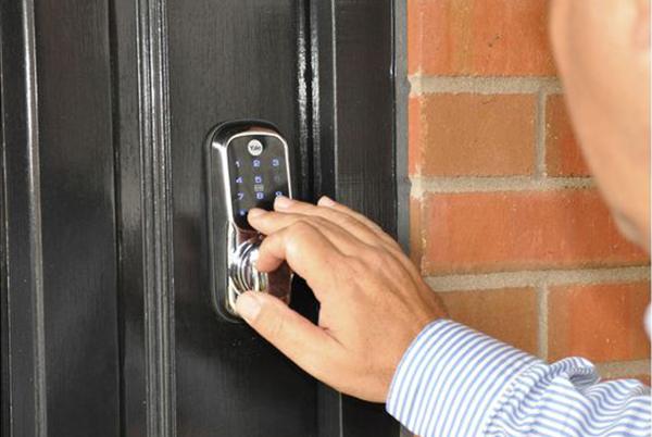 Yale keyless lock